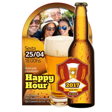 Convite happy hour - Arte 01