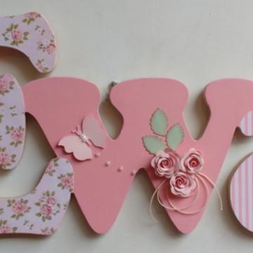 Porta maternidade Ewa floral listras rosa