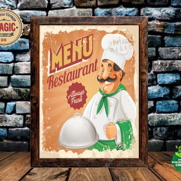Quadro Rústico Restaurante Vintage
