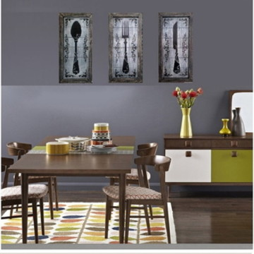 Trio De Quadros Decorativos De Cozinha 3