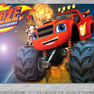 Painel Blaze Monster Machines-Frete Grát