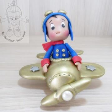 Pequeno Principe aviador Dourado