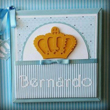 Livro do Bebê Sua Majestade azul claro