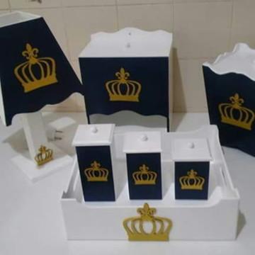 Kit Higiene para Bebê Príncipe Coroa