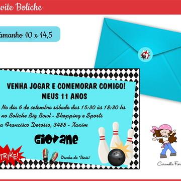 Convite Boliche