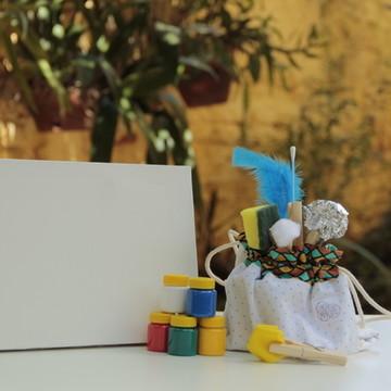 Kit Pintura com pincel criativo