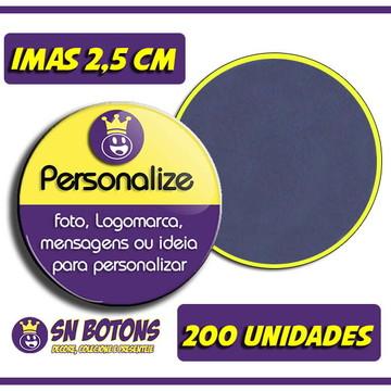 200 Imã Personalizados 2,5cm