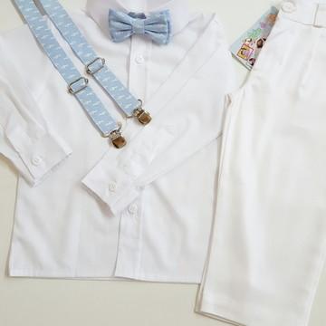 Roupa Batizado Camisa Manga Longa