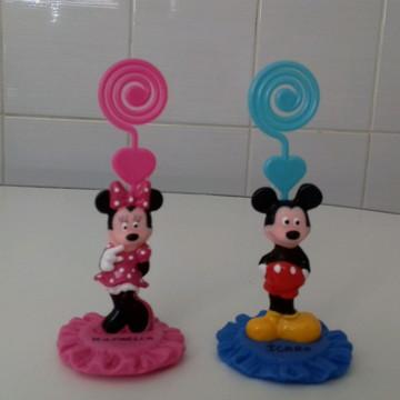 Lembrancinhas Mickey,Minie porta recados aniversario