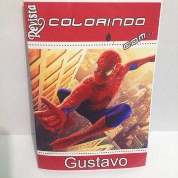 Livro de Colorir Homem Aranha para Lembrancinha