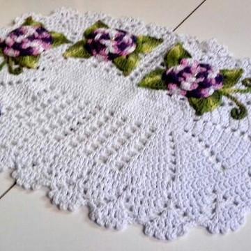 Jogo de banheiro em crochê Branco
