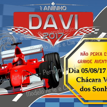 Convite Formula 1 - Corrida