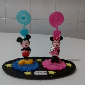Centro de mesa Lembrancinha mickey, minie aniversario gemeos