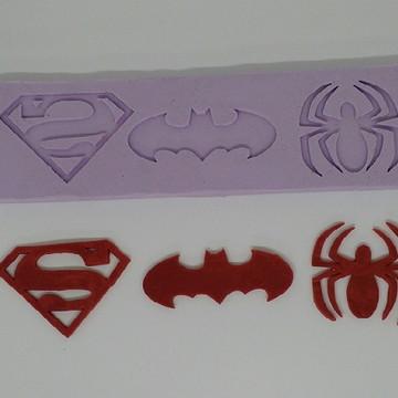 molde silicone super heróis