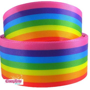 Fita de Gorgurão Multicolorida 38mm