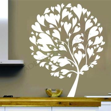 Adesivo Corações na Árvore