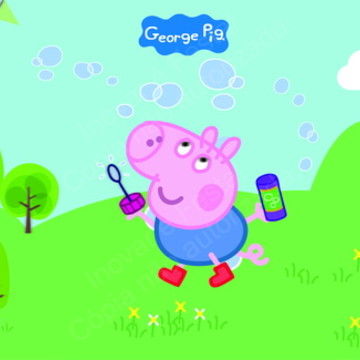 Painel George Pig - 2,25 x 1,35