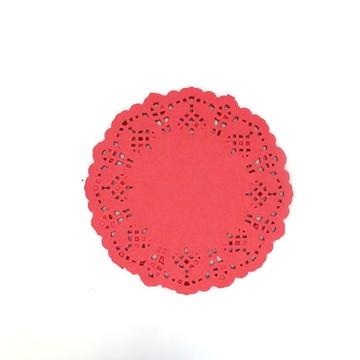 Doilie/Papel rendado Vermelho 12,5