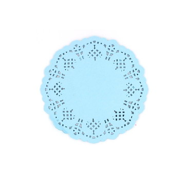 Doilie/Papel rendado Azul 12,5 cm