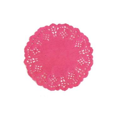 Doilie/Papel rendado Rosa 12,5 cm