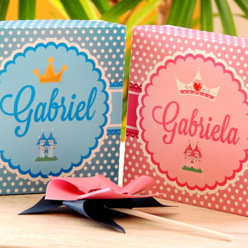Caixa Convite Daminhas e Pajens