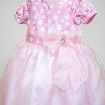 Vestido Infantil da Minnie Rosa Luxo