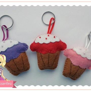Chaveiro de feltro - Cupcake