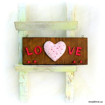Porta chaves coração florido - UNIDADE