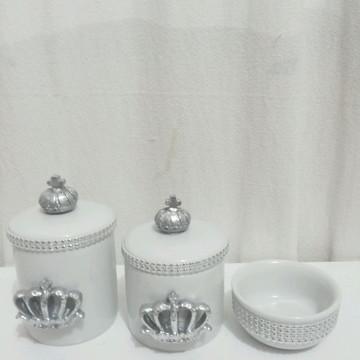 Kit higiene em porcelana