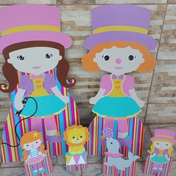 Kit Circo para Meninas / mdf