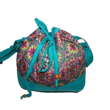Bolsa saco tecido de algodão