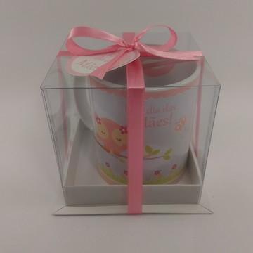 Caneca e Caixa de Acetato Dia das Mães