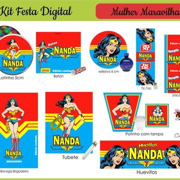 Kit Festa Mulher Maravilha