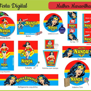 Mulher Maravilha Festa digital