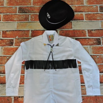 d83e339a6802c Camisa cowboy e Chapeu country infantil