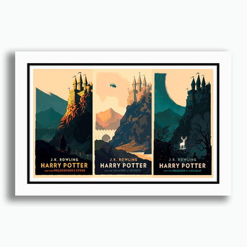 Quadro Minimalista 60x40cm Harry Potter