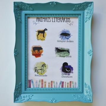 Quadro Animais Literários
