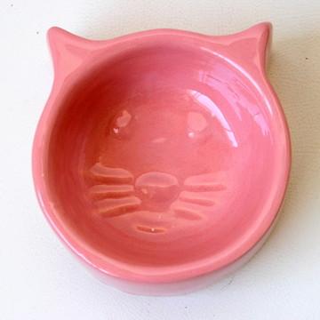 Comedouro de gato - Rosa