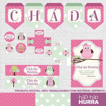 Kit Chá de Bebê - Corujinha