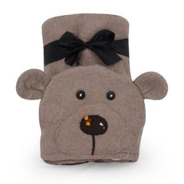 Toalha infantil Urso Bege