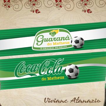 Rótulo Refrigerante Futebol - 00407