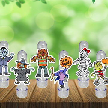 Tubetes Halloween Bruxas Tubo Ensaio Doces Festa