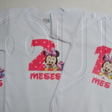 Body Mêsversario Minnie MV083 Avulso