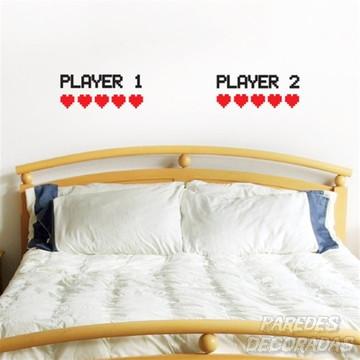 Adesivo player 1 player 2