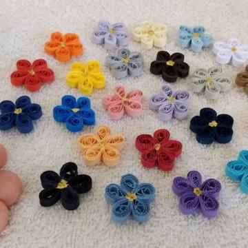 Flor de 5 pétalas - Mini - Uma cor