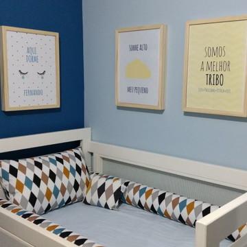 Quadro Bebê Infantil Personalizado Nome Moldura Madeira A4