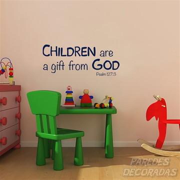 Adesivo crianças são um presente de Deus