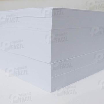 Papel Couchê Brilho ou Fosco A4 210g - 100 Folhas para laser