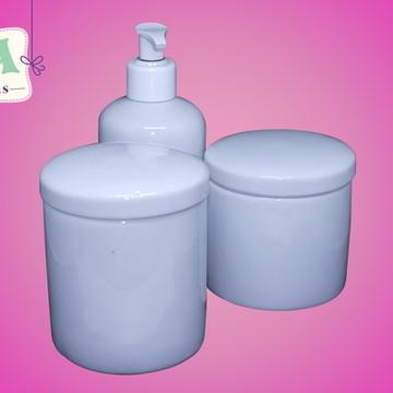 Kit higiene potes com dispenser