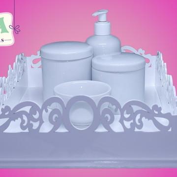 Kit higiene liso com bandeja pezinho